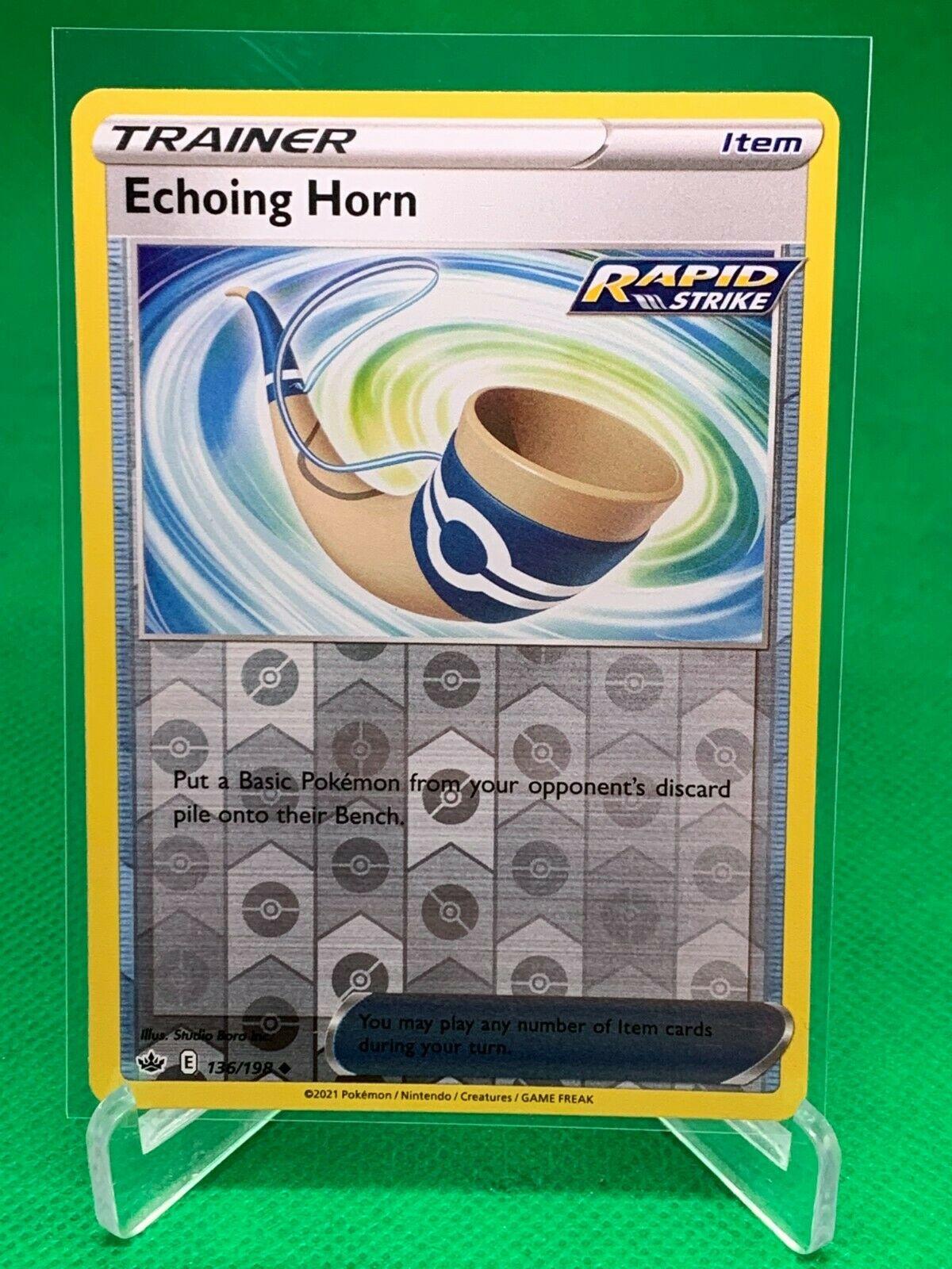 Pokemon - Echoing Horn - Chilling Reign - 136/198 - Reverse Holo