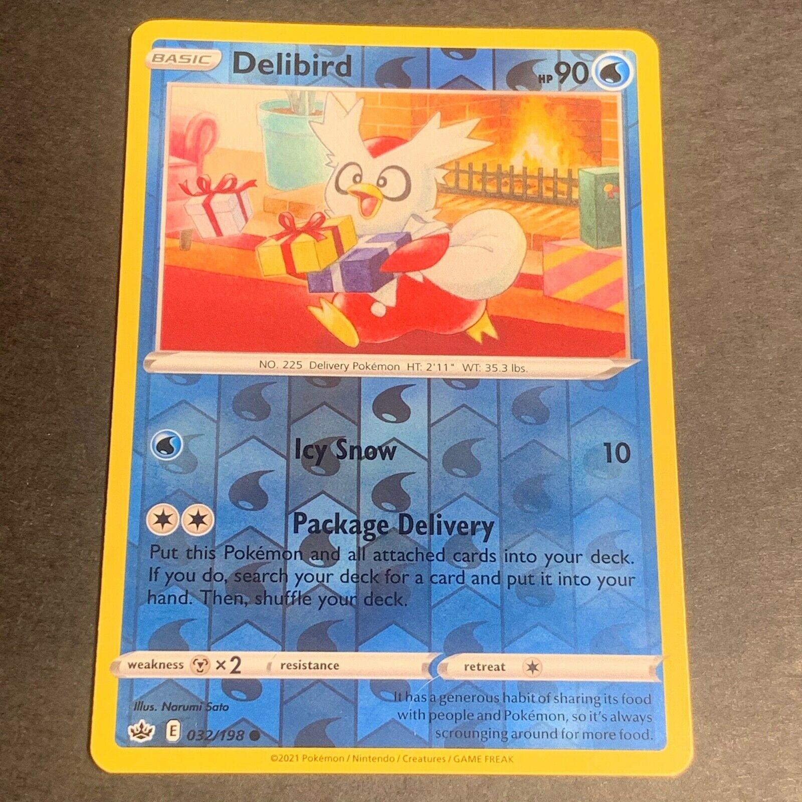 Pokemon S&S Chilling Reign REVERSE HOLO (C.) Delibird 032/198 - Near Mint (NM)