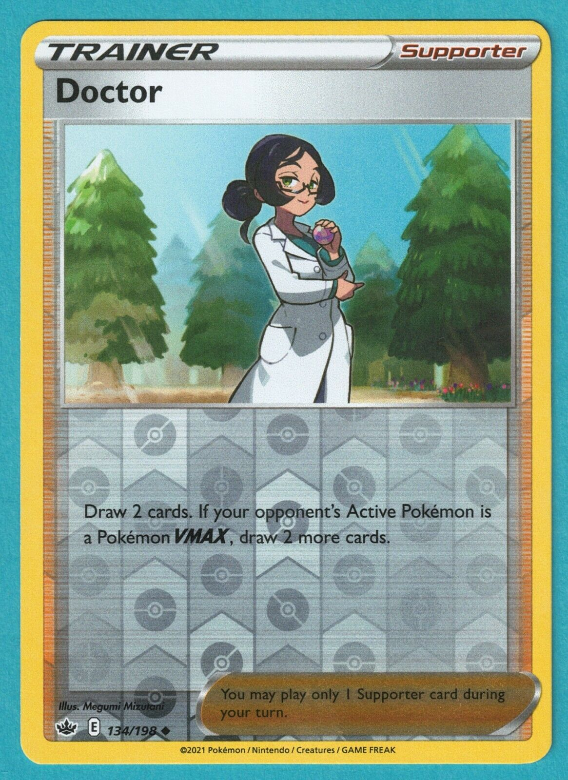 Doctor Uncommon Reverse Holo Trainer Pokemon Card Chilling Reign 134/198 M/NM - Image 1