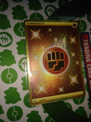 Pokemon Fighting Energy 233/198 Gold Secret Rare Chilling Reign - Image 4