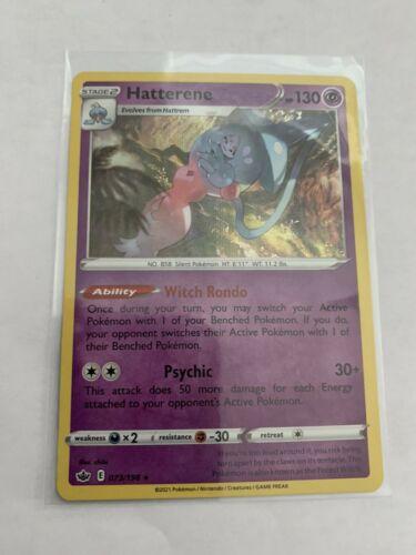 Pokemon Card Chilling Reign Hatterene - 073/198 - Rare Holo NM/ Mint
