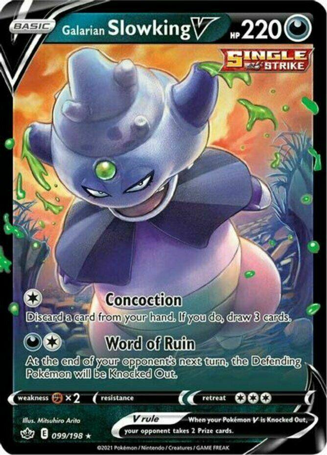 Pokemon  - Galarian Slowking V - 099/198 - Ultra Rare - Chilling Reign  - NM/M