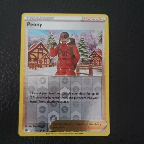 Pokemon - Peony - Chilling Reign - 150/198 - Reverse Holo