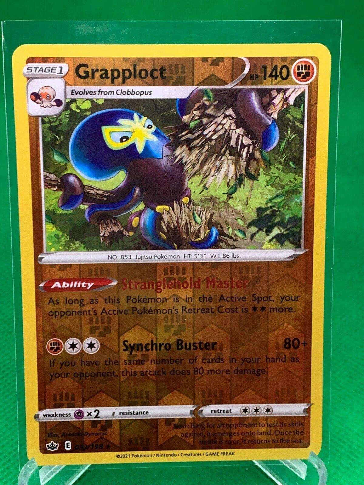 Pokemon - Grapploct - Chilling Reign - 092/198 - Reverse Holo Rare