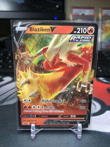 Pokemon Chilling Reign Blaziken Vmax 021/198 Full Art & V 020/198 UR MINT!!! - Image 4