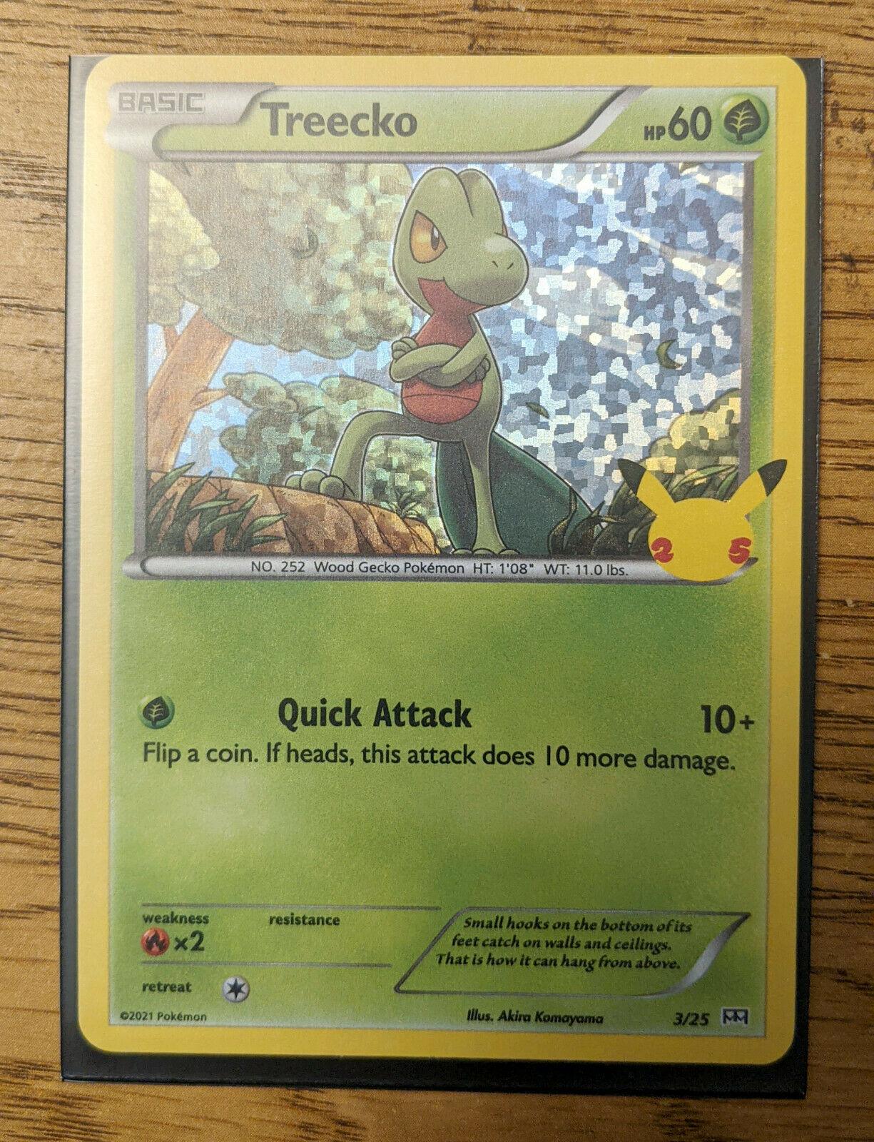 McDonald's 2021 Pokemon 25th Anniversary Card Treecko 3/25 Holo FAST SHIPPING!