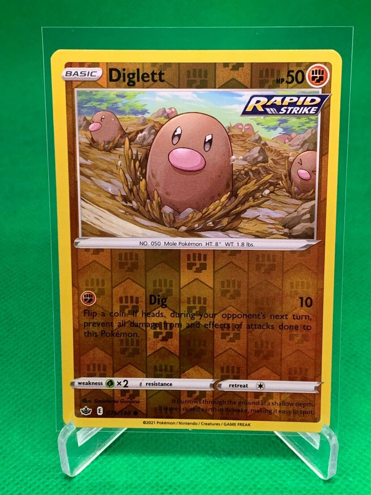 Pokemon - Diglett - Chilling Reign - 076/198 - Reverse Holo