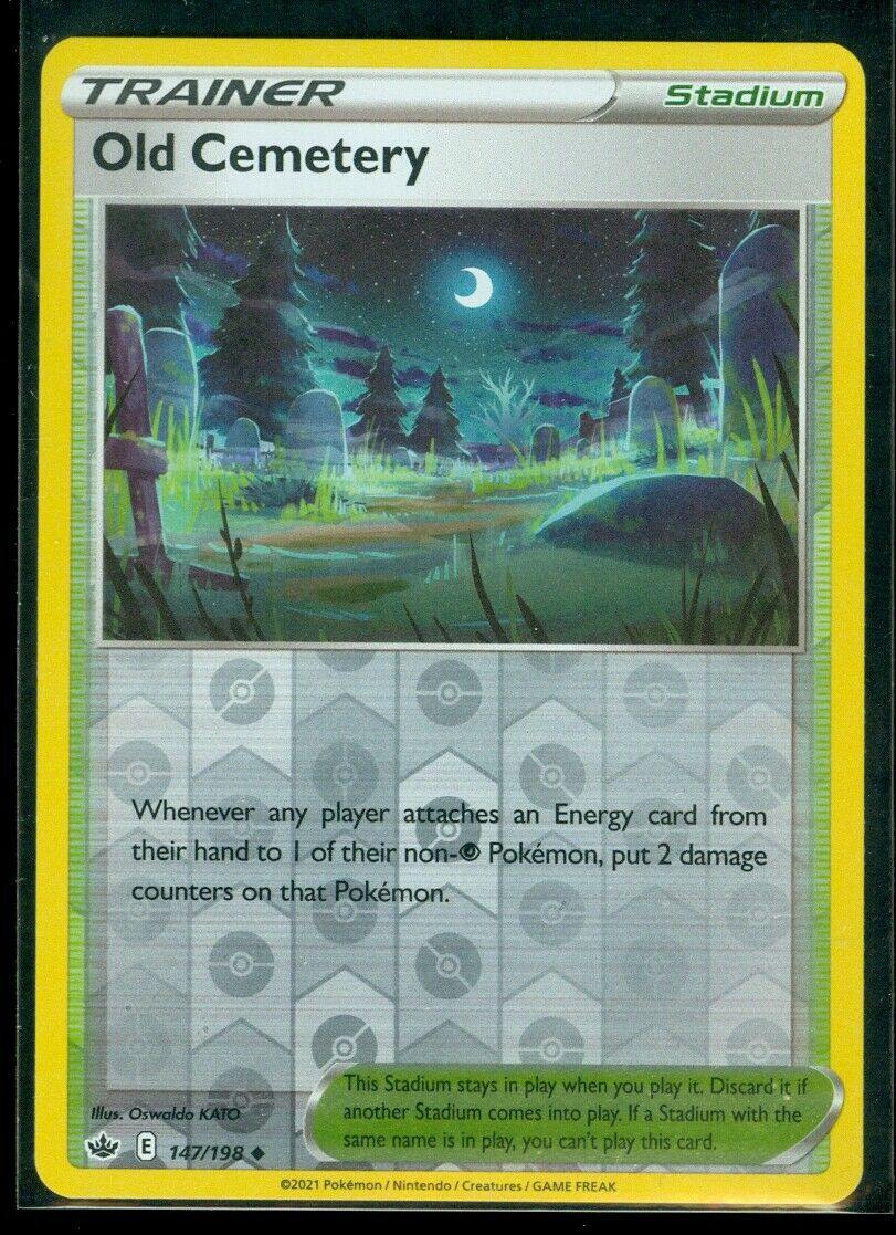 Pokemon OLD CEMETERY 147/198 Chilling Reign - Rev Holo - MINT