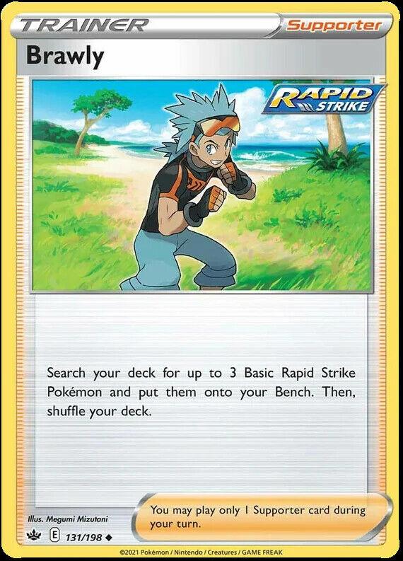 4x Brawly 131/198 NM|M- Chilling Reign Pokemon
