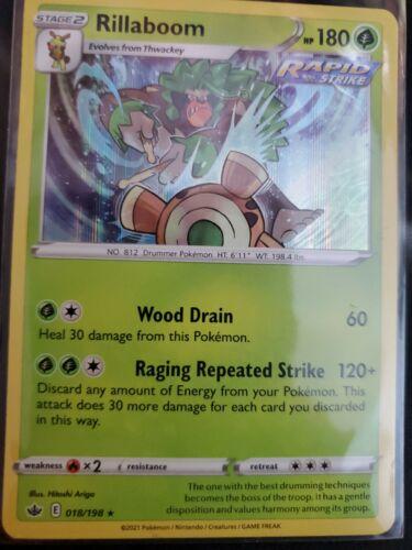 Pokemon Rillaboom 018/198 Holo Rare Chilling Reign Near Mint