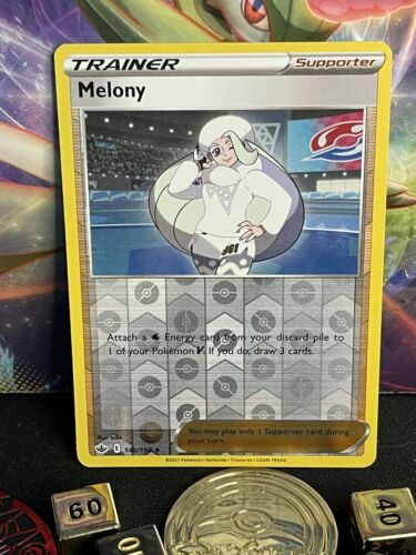 Melony 146/198🦄Trainer🦄 Reverse Holo🦄 Chilling Reign🦄+2 Free Cards🦄NMNT+