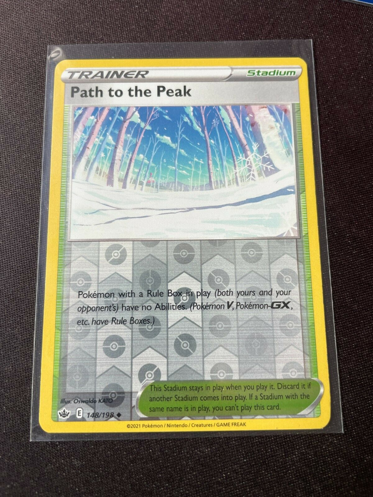 Pokemon TCG Chilling Reign 148/198 Path to the Peak Card Reverse Holo Mint