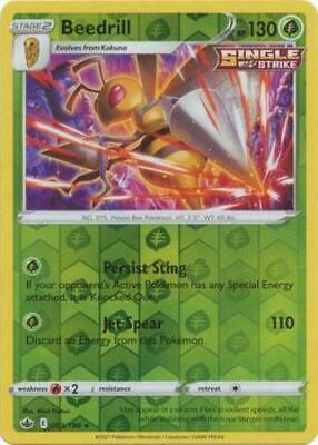 Pokemon Card Chilling Reign 003/198 Beedrill Reverse Holo Rare