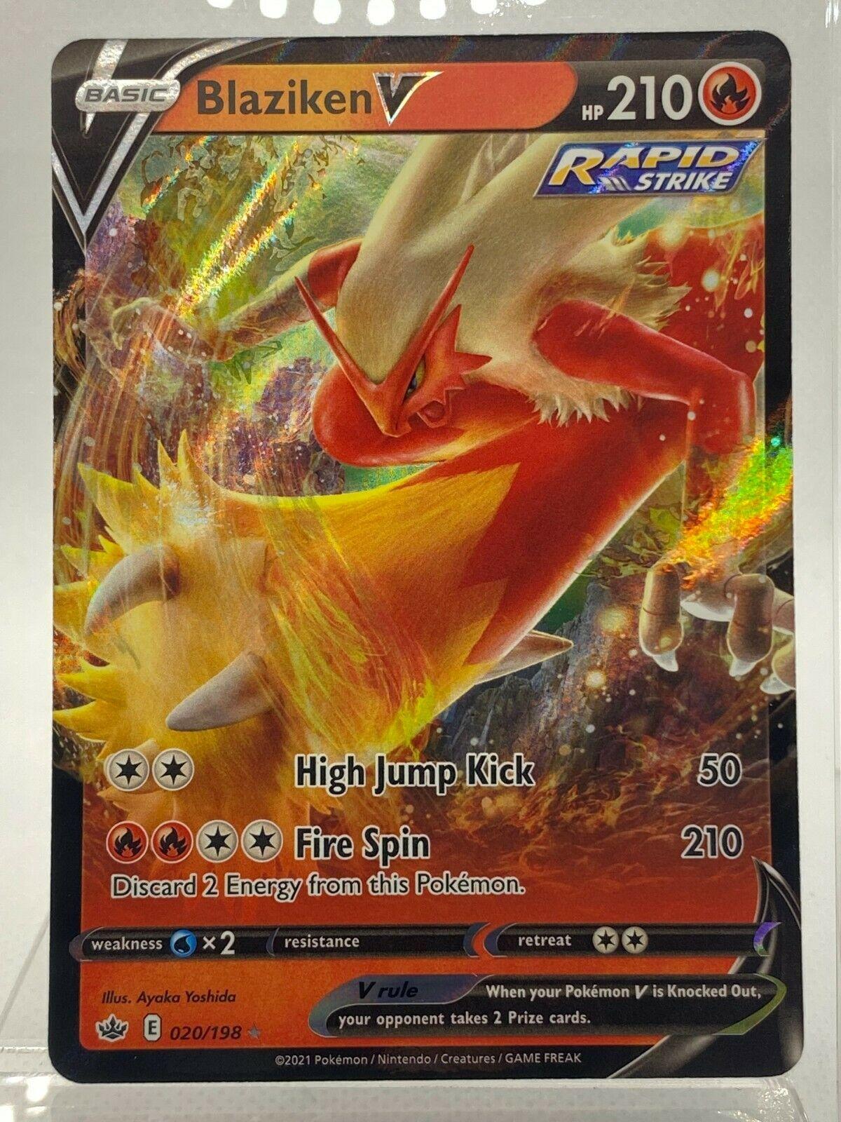 Blaziken V 020/198 Ultra Rare Pokemon Chilling Reign
