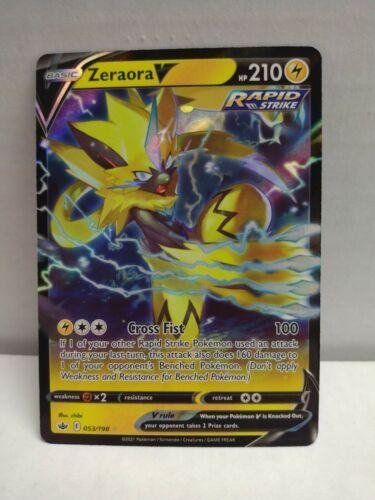 Pokemon Chilling Reign Zeraora V 053/198