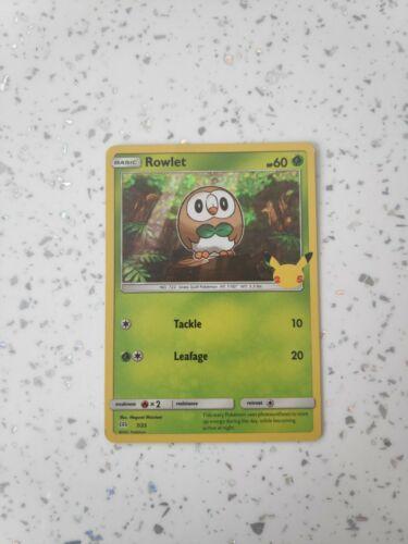 McDonald's Pokémon Cards 2021 Rowlet Holo 7/25