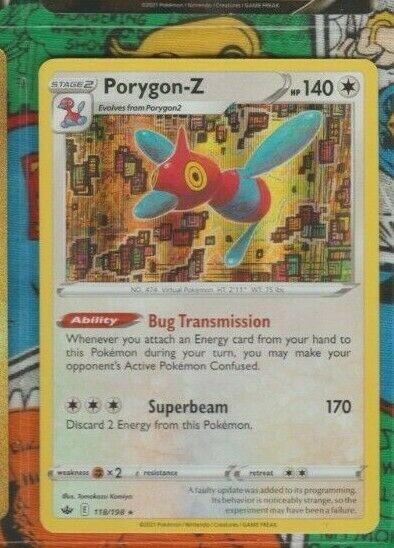 HOLOGRAM FOIL RARE Porygon-Z 118/198 Chilling Reign Pokemon Trading Card Game