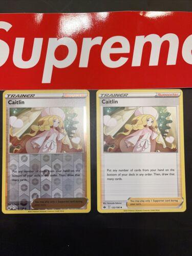 🔥X2 Pokemon Caitlin 132/198 Reverse Holo Uncommon Chilling Reign Near Mint