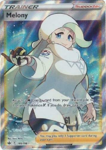 Melony FULL ART 195/198 Holo Pokemon Card Chilling Reign