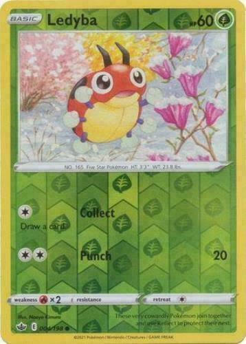 Pokemon - Ledyba 004/198 - Reverse Holo  - Chilling Reign - NM/M