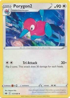 Pokemon Card Chilling Reign 117/198 Porygon2 Uncommon