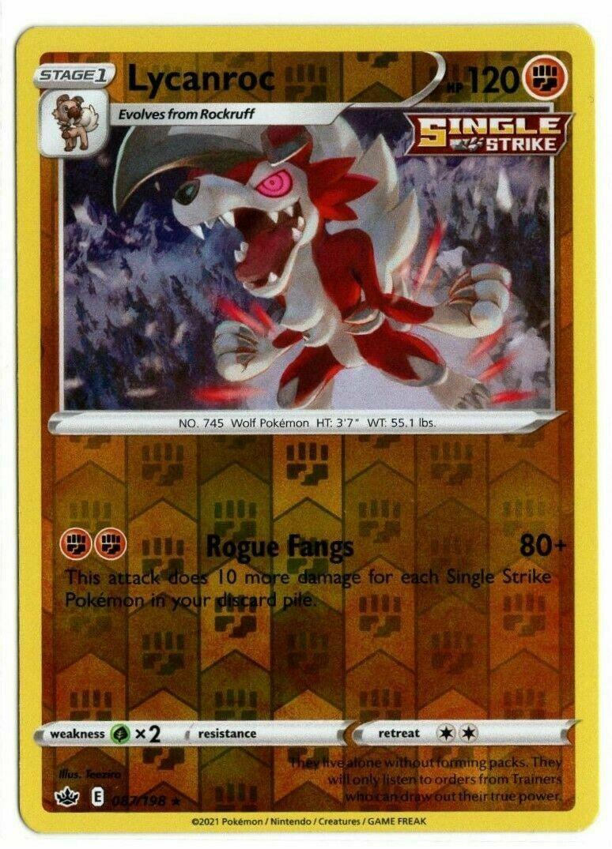 Pokemon - Lycanroc 087/198 - Reverse Holo Rare - Chilling Reign - NM/M