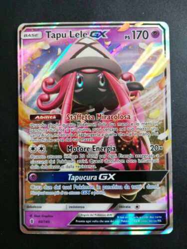 60a//145 Full Art HOLO Pokemon Card SM GUARDIANS RISING Alternate TAPU LELE GX
