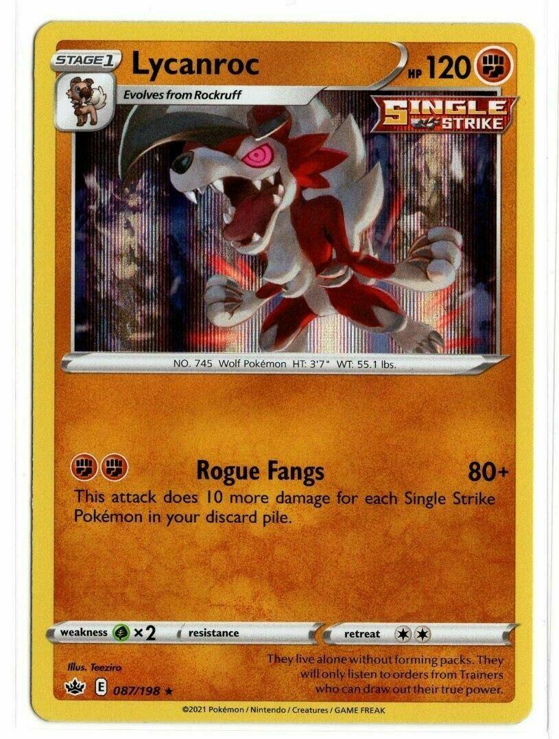 Pokemon - Lycanroc 087/198 - Holo Rare - Chilling Reign - NM/M