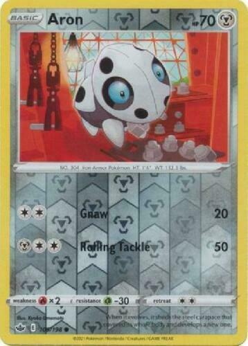 Pokemon -  Aron - 109/198  - Reverse Holo - Chilling Reign - NM/M