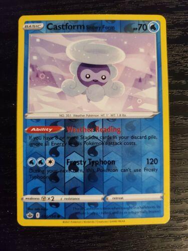 Castform Snowy Form 034/198 Chilling Reign Reverse Holo Pokemon Card NM - Image 1