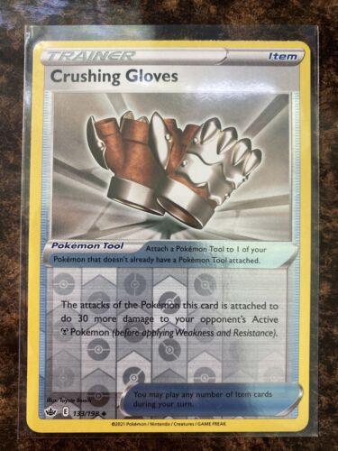 Crushing Gloves 133/198 - Reverse Holo - Pokemon Chilling Reign - Mint