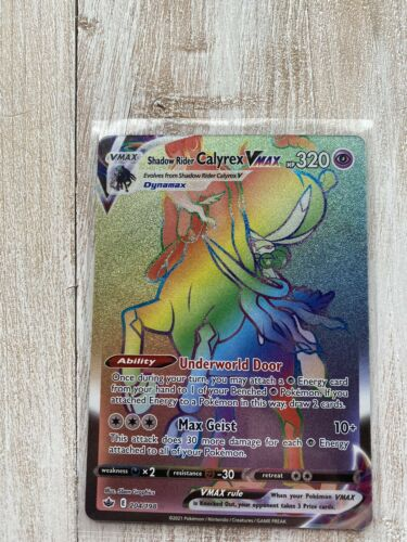 Shadow Rider Calyrex VMAX Rainbow Full Art 204/198 - Pokemon Chilling Reign
