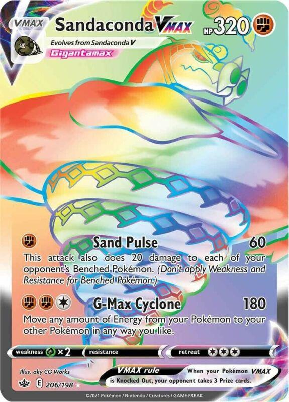 POKEMON TCG SS CHILLING REIGN : Sandaconda VMAX 206-198 - RAINBOW RARE