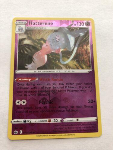 Hatterene 073/198 Reverse Holo Rare Pokemon Chilling Reign