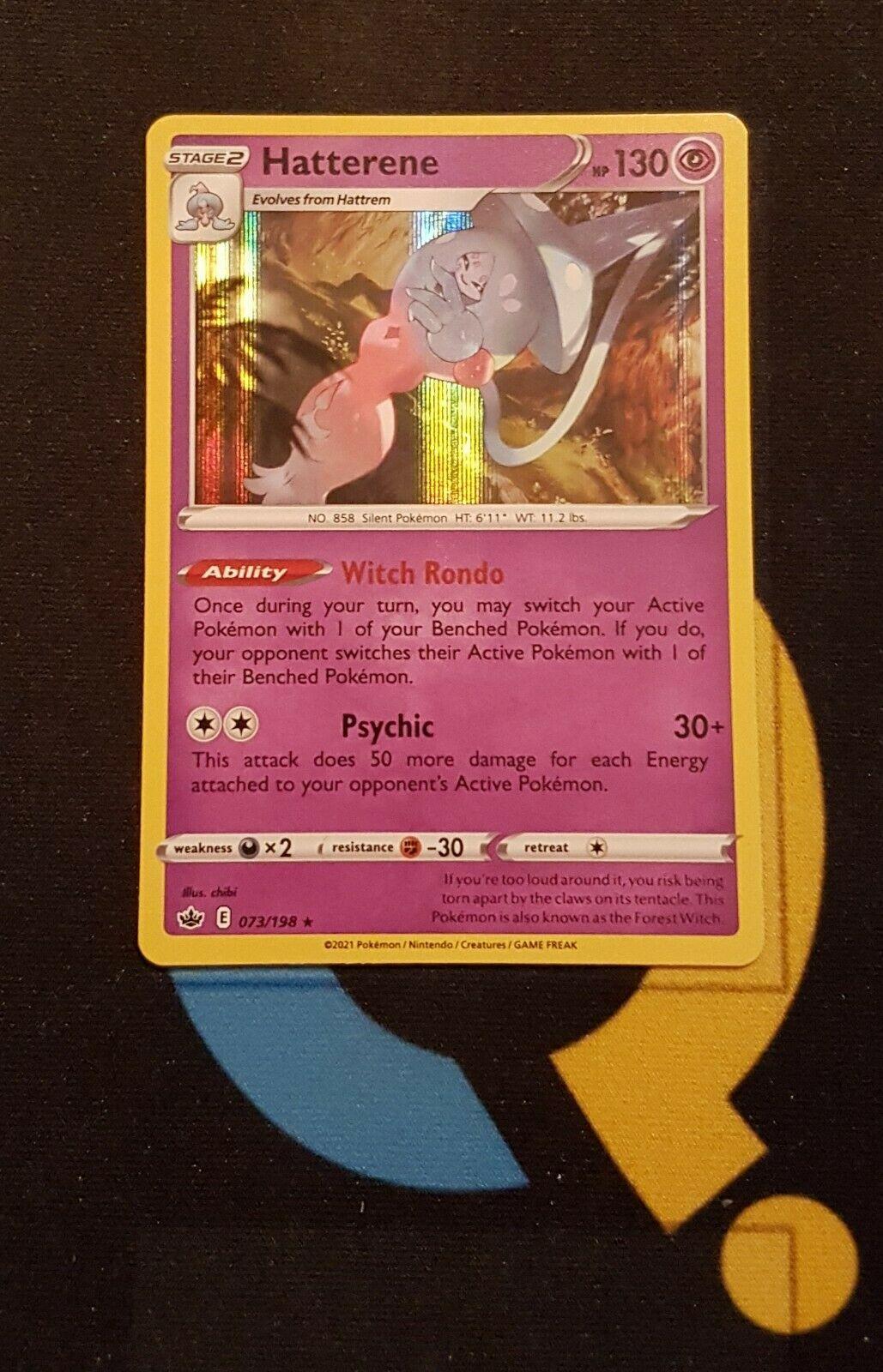Hatterene - 073/198 Chilling Reign - Rare Holo - Pokemon
