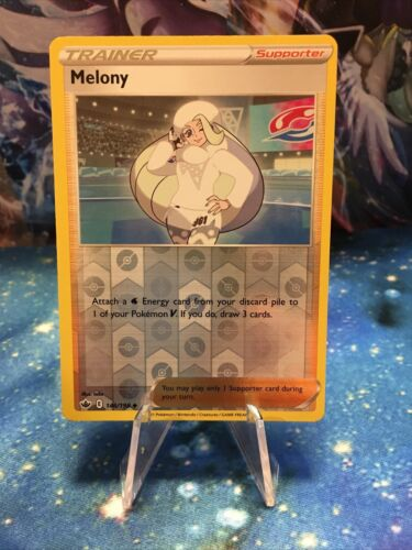 [Playset] 4x Pokemon Card Melony Supporter (146/198) - Chilling Reign