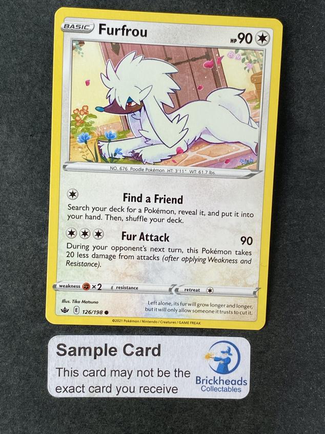 Furfrou 126/198 Common   SWSH: Chilling Reign   Pokemon Card