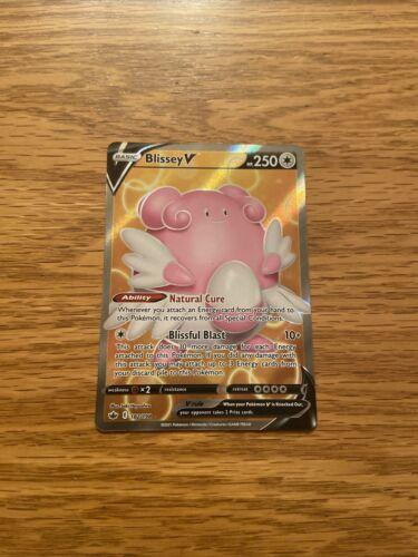 Blissey V 182/198 NM Mint Chilling Reign Full Art Rare Holo Pokemon Card