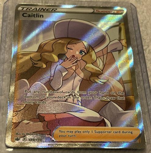 Caitlin FULL ART Trainer SECRET RARE 213/198 Pokemon Card 2021 Chilling Reign #1