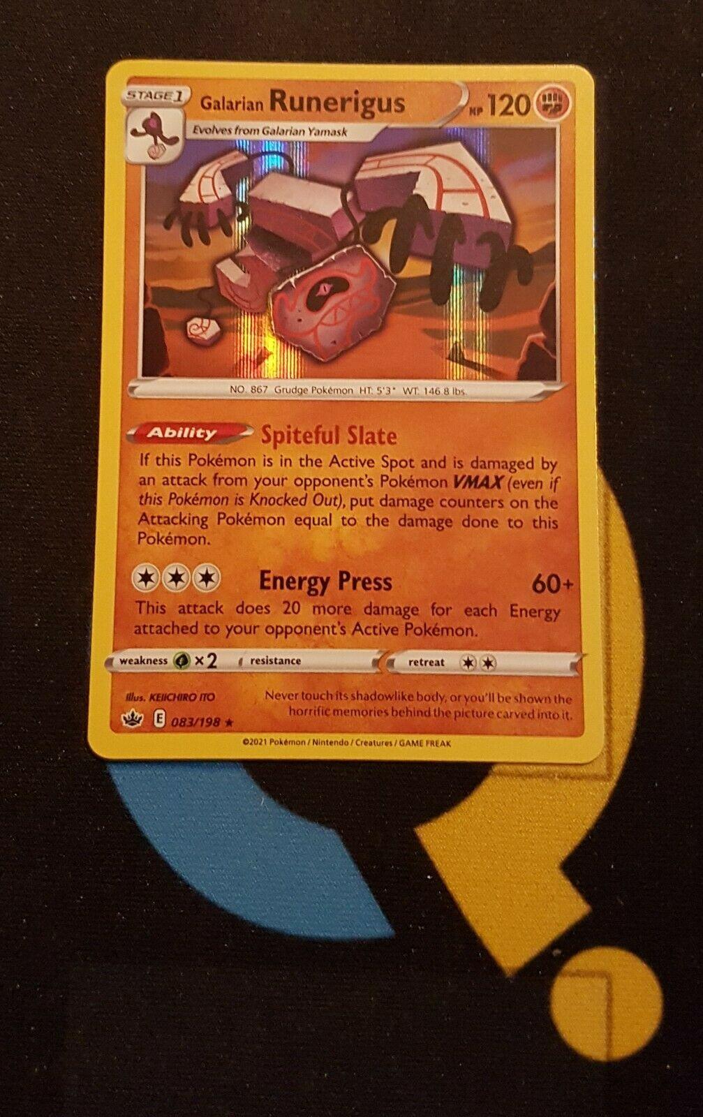 Galarian Runerigus - 083/198 Chilling Reign - Rare Holo - Pokemon