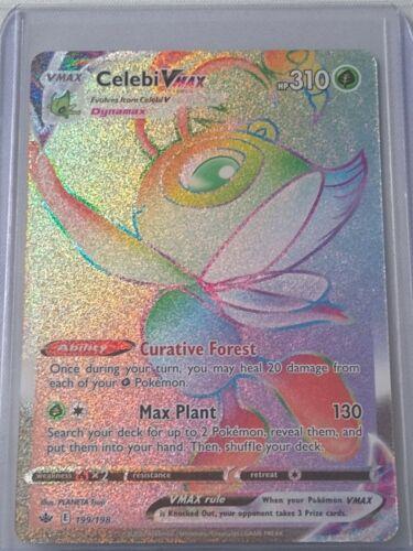 pokemon chilling reign Celebi VMAX (Secret Rare) 199/198