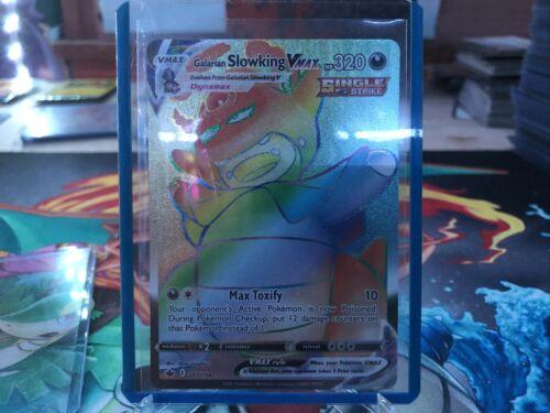 pokemon Chilling Reign Galarian Slowking Vmax Rainbow Secret Rare 207/198
