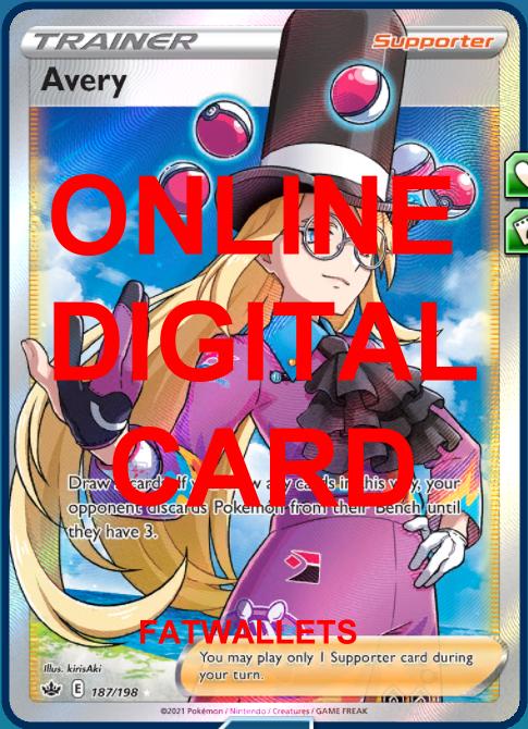 1X Avery 187/198 Chilling Reign Pokemon Online Digital Card