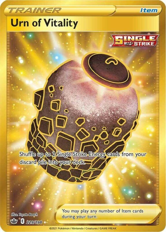 POKEMON TCG SS CHILLING REIGN : Urn of Vitality 229-198 - SECRET RARE