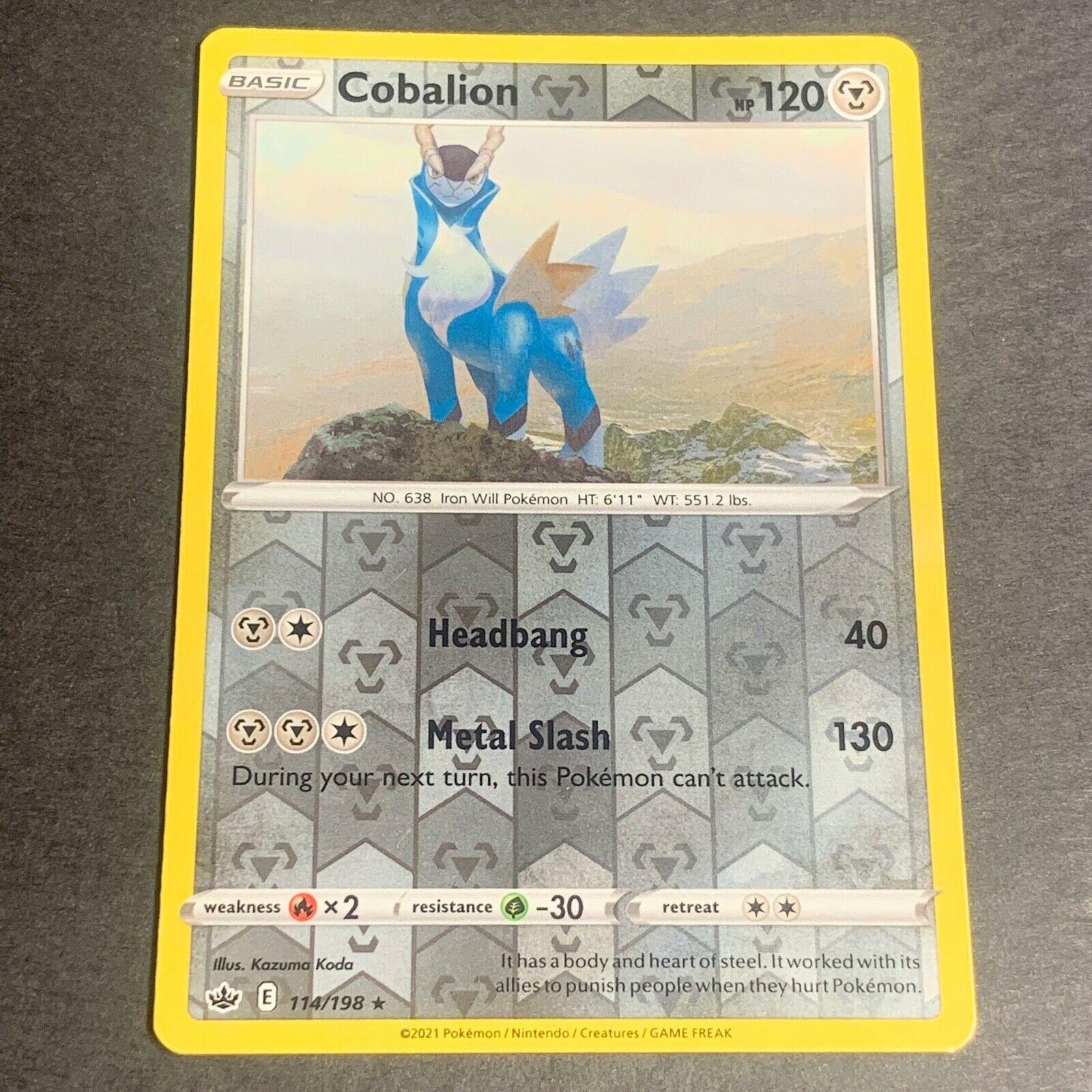 Pokemon S&S Chilling Reign REVERSE HOLO (R.) Cobalion 114/198 - Near Mint (NM)