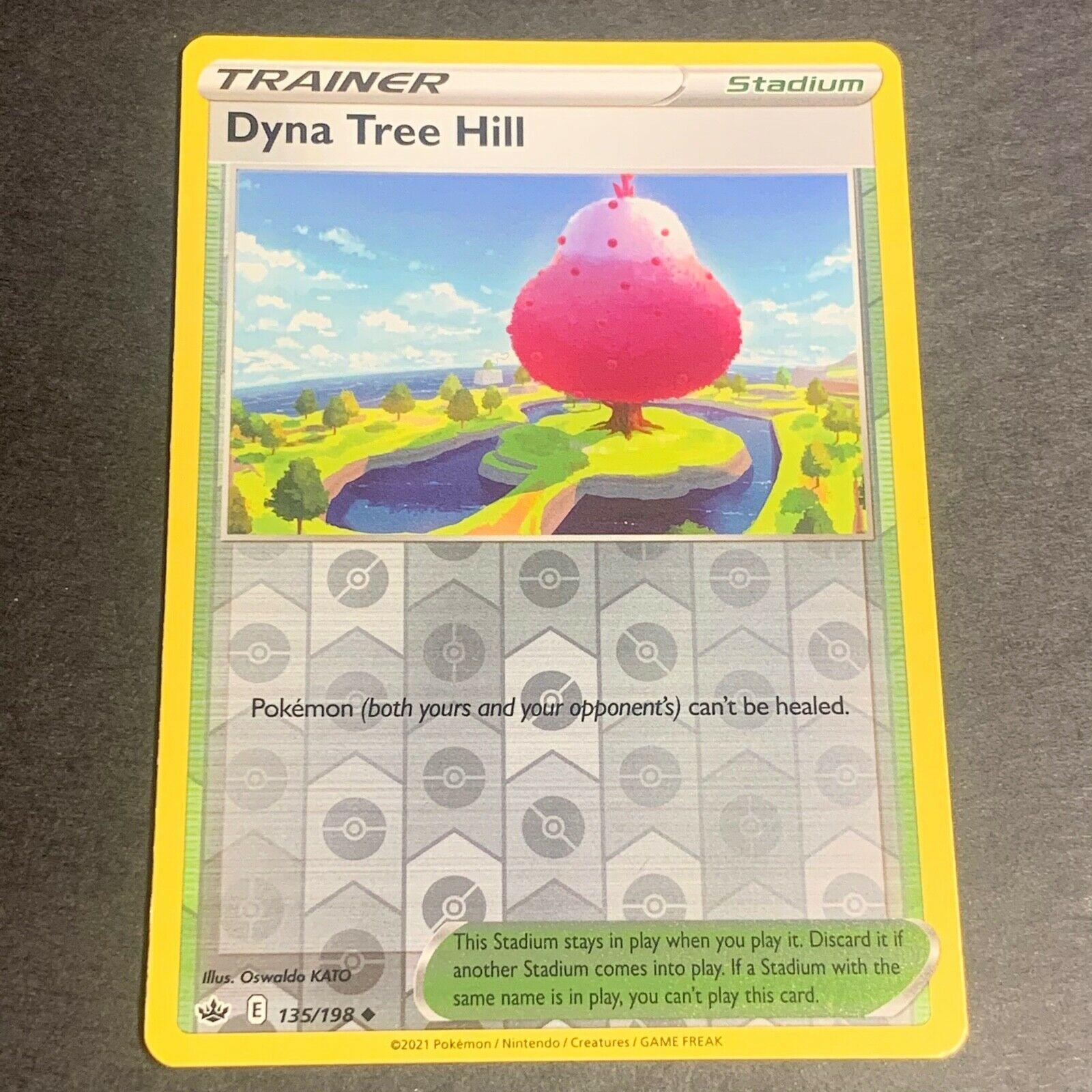 Pokemon S&S Chilling Reign Set REVERSE HOLO (Un.) Dyna Tree Hill 135/198 - NM