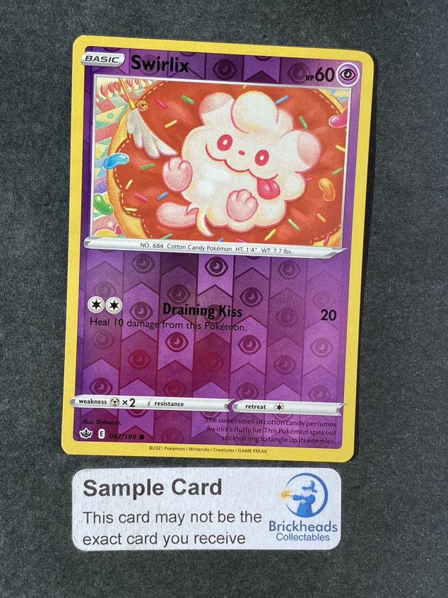 Swirlix 067/198 Reverse Holo | SWSH: Chilling Reign | Pokemon Card  - Image 1