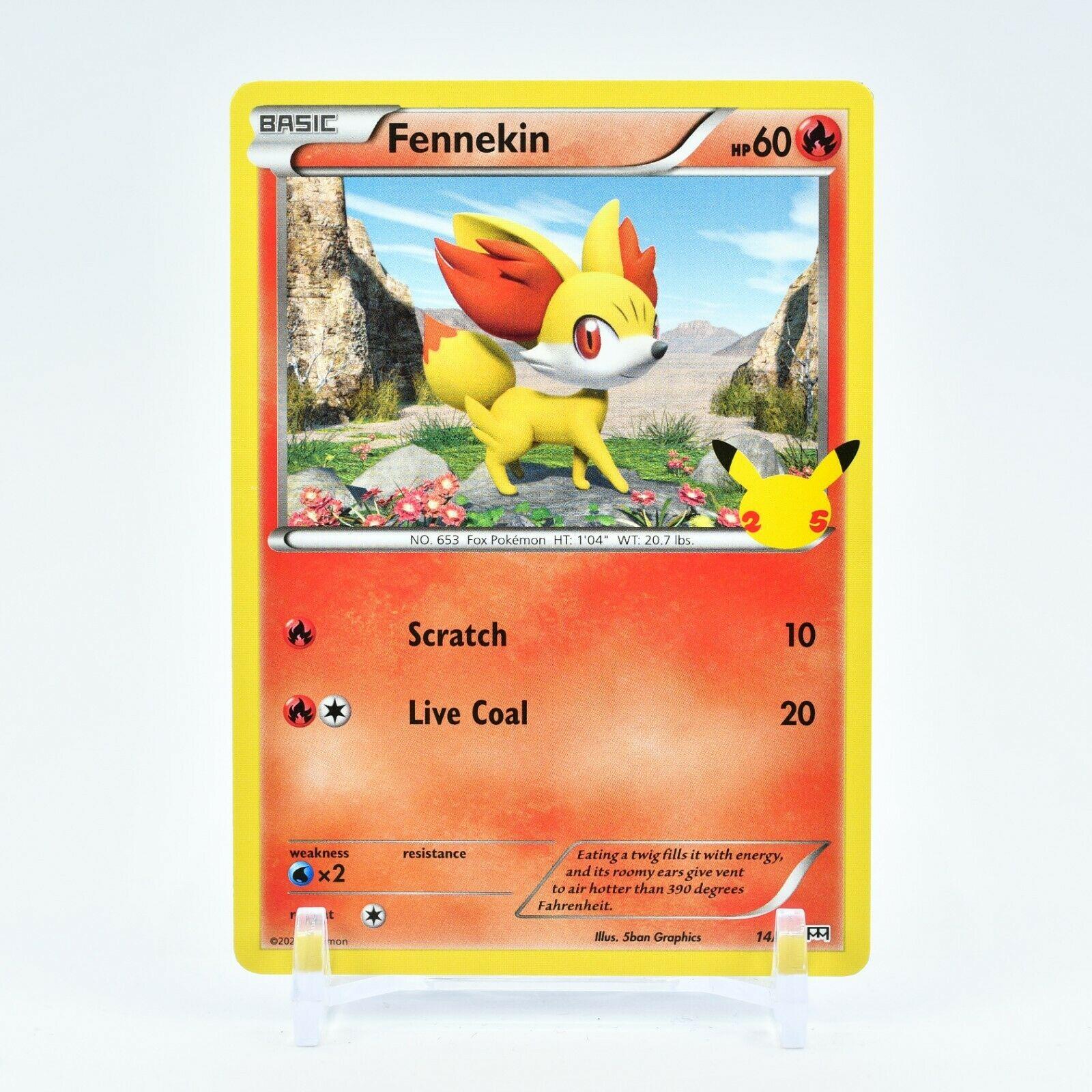 Fennekin - 14/25 Mcdonald's Promo 25th Anniversary Starter Pokemon - NM/MINT