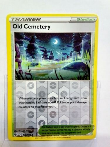 Pokemon Trainer Old Cemetery 147/198 Reverse Holo Mint Chilling Reign Mint