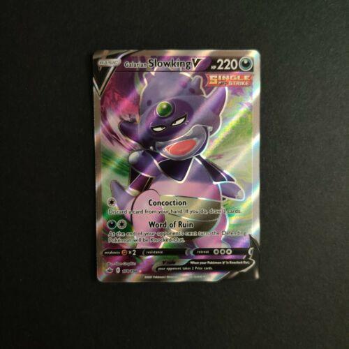Galarian Slowking V 178/198 NM Mint Chilling Reign Full Art Rare Pokemon Card